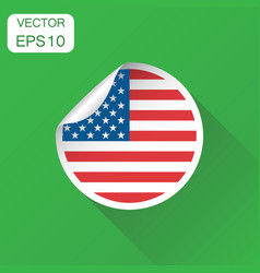 usa sticker flag icon business concept america vector image