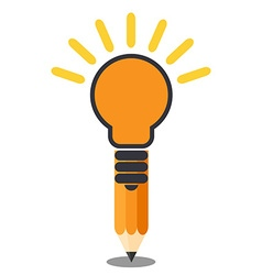 Vertical oriented pencil light bulb Creative idea vector