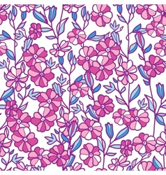 Vibrant field flowers seamless pattern background vector image vector image