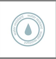 Water resistant sign vector