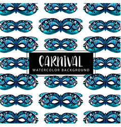 watercolor carnival background vector image