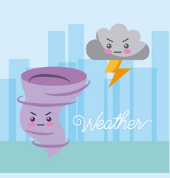 weather snowy cartoon vector image