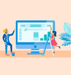 Website ui development process vector