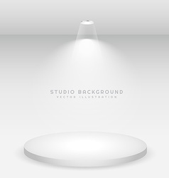 white podium studio background vector image