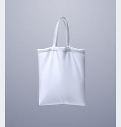 white tote bag mockup 3d vector image