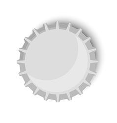 Bottle cap metallic vector image vector image
