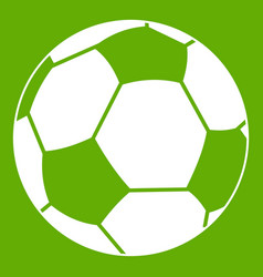 football ball icon green vector image