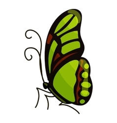 Green butterfly icon cartoon style vector image vector image