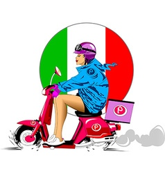 Italian pizza delivery vector image vector image