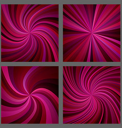 Maroon spiral and ray burst background design set vector