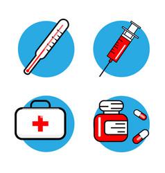 medicine and health symbols thin lines web icon vector image vector image