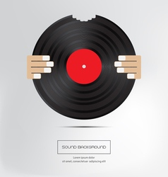 Music background Bite of musical plate Isolated vector image