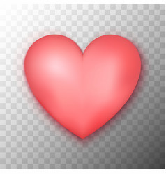 pink heart transparent background vector image vector image