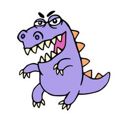 wild purple cartoon dragon vector image vector image