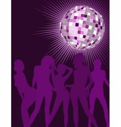disco girls silhouettes vector image vector image