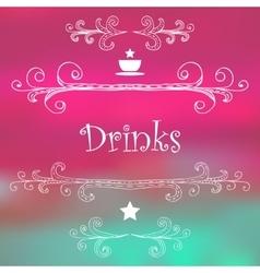 Drinks Monograms Lettering vector image
