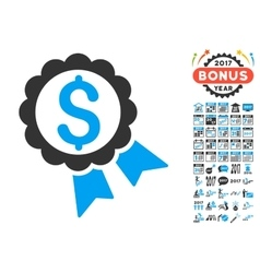 Featured Price Label Icon With 2017 Year Bonus vector image