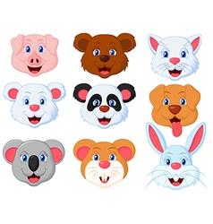 Head Cute Pet Set vector image