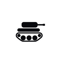 isolated panzer icon defense element can vector image