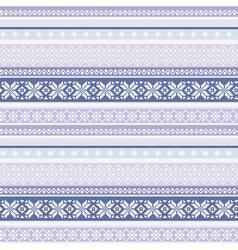 traditional folk nordic geometric pattern vector image