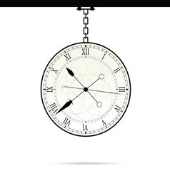clock on chain vector image