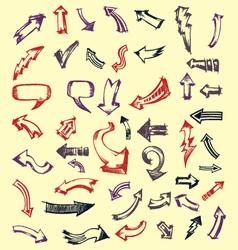 doodles arrows vector image vector image
