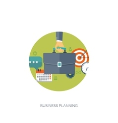 Flat business background vector image vector image