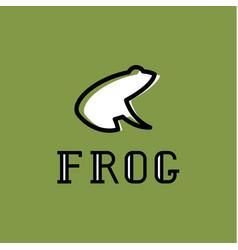 frog logo sign mark trend vector image