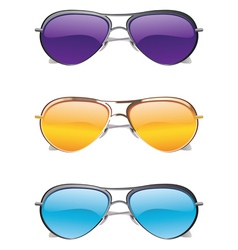 Sunglasses Icons vector image vector image
