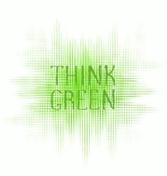 think green concept logo design vector image