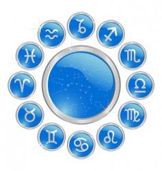 zodiac button vector image vector image