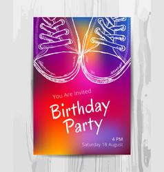 birthday party invitation card teenage party vector image