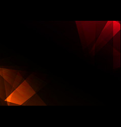 red crystal abstract dark background vector image