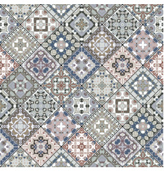 a collection of ceramic tiles in retro colors vector image