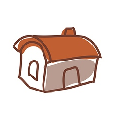 A house stands on the street vector