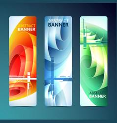 Abstract clean vertical banners vector