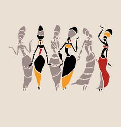 African beautiful women vector