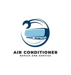 Air conditioner repair service logo vector