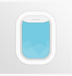 aircraft window vector image