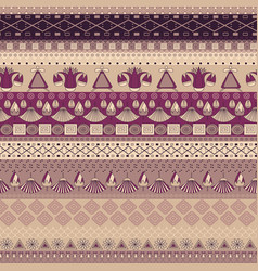 ancient egyptian ornament tribal seamless pattern vector image