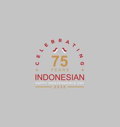 Anniversary 75th celebrating company design logo vector