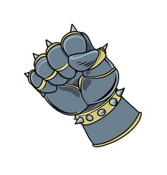 armored gaunlet in fist shape vector image