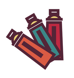 art equipment oil or acrylic paint in tubes vector image