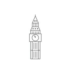 Big ben tower monument in london united kingdom vector