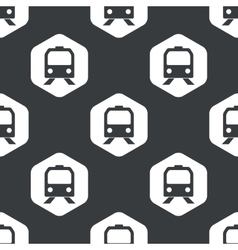 Black hexagon train pattern vector