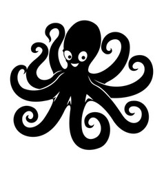 black octopus sign vector image