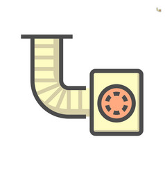 Blower for duct cleaning work icon 64x64 perfect vector