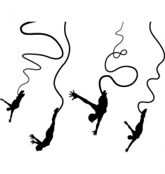 bungee jumpers vector image