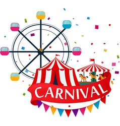 Carnival show and party greeting card vector