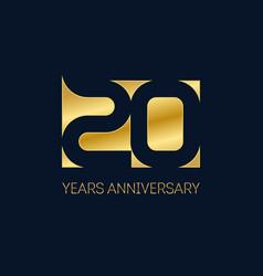 celebration 20th anniversary invitation vector image